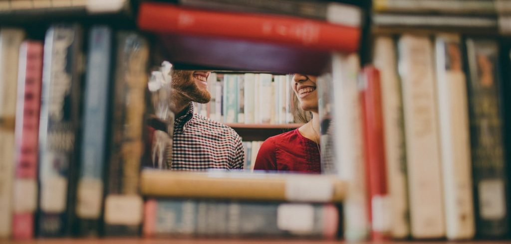 A Couple on Date Night Through Books